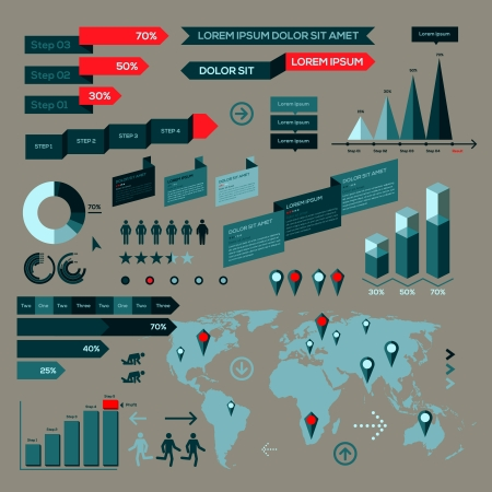 Infographic elements, information graphics Vector