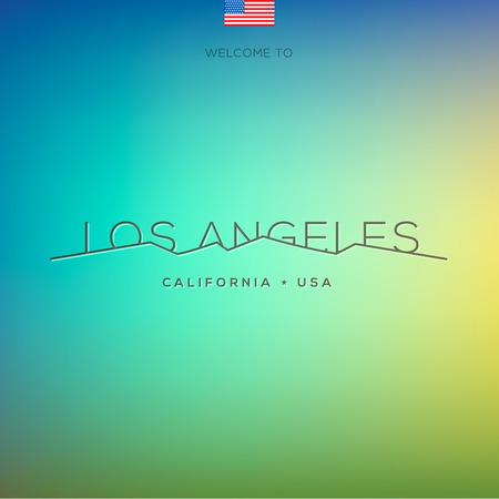 fashion week: World Cities labels - Los Angeles, vector Eps10 illustration. Illustration