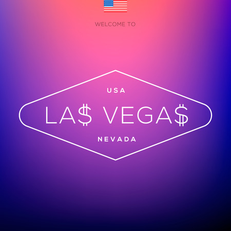 World Cities labels - Las Vegas, vector Eps10 illustration. Vector