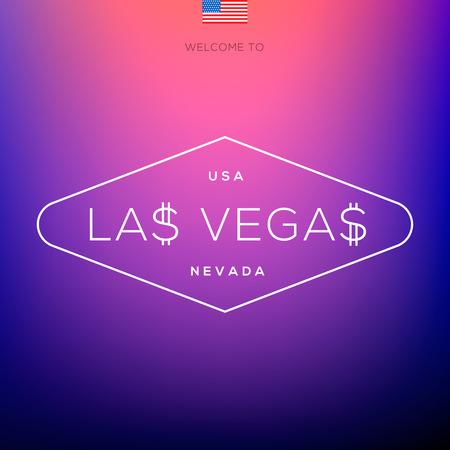World Cities labels - Las Vegas, vector Eps10 illustration. Vector