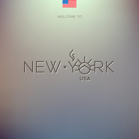 World Cities labels - New York. Vector Eps10 illustration. Vector
