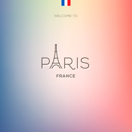 World Cities labels - Paris. Vector Eps10 illustration. Vector