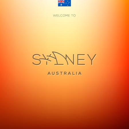 fashion week: World Cities labels -Sydney . Vector Eps10 illustration.