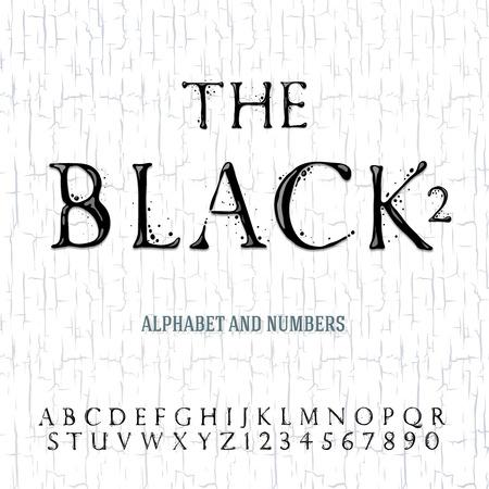 Schwarzes Öl gemalt Alphabet