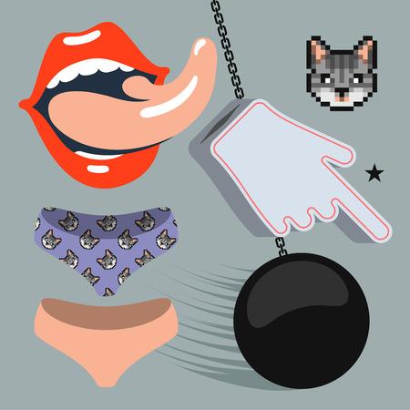 sexy tongue: Rock music design elements