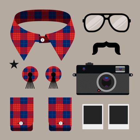 Set of fashion hipster design element Stock Vector - 27335338