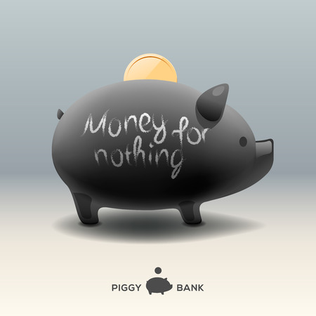 moneybox: Hucha Piggy - dinero para nada Vectores