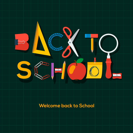 intermediate: Back to school background