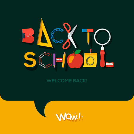 alphabet kids: Back to school background