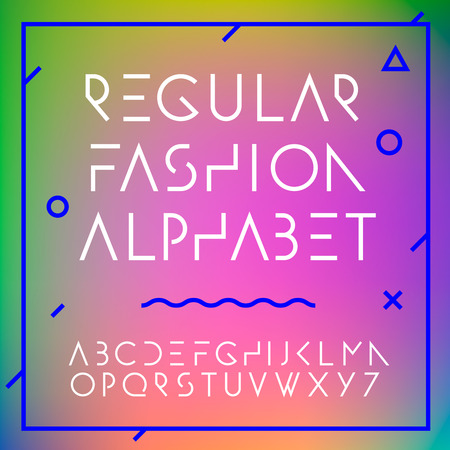Fashion alphabet letters collection, vector illustration. 向量圖像