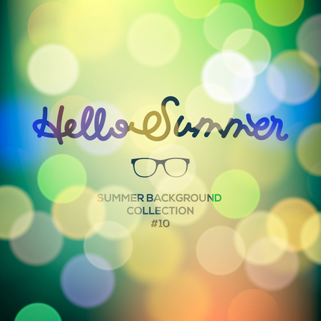 Hello summer, summertime blurred background