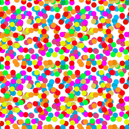 popper: Confetti party design seamless pattern, abstract background, vector illustration.