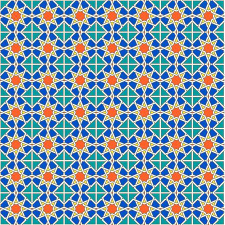 ligature: Seamless Moroccan pattern background Illustration