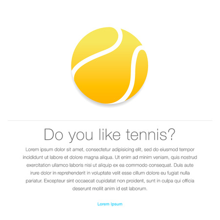 Tennis icon  Yellow tennis ball