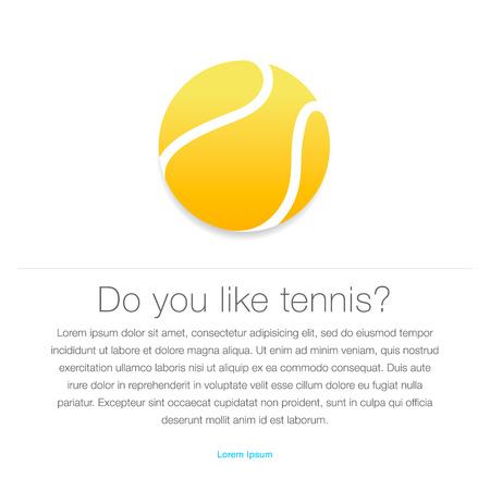 Tennis icon  Yellow tennis ball