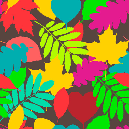 fall leaves background: Fall pattern, seamless background of autumnal leaves, vector eps10 illustration.