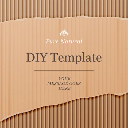 materiales de construccion: Plantilla Diy con cart�n textura de fondo, ilustraci�n vectorial. Vectores