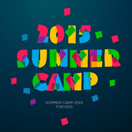vacances d �t�: Vacances d'�t� et Voyage � th�me affiche Summer Camp, illustration vectorielle. Illustration