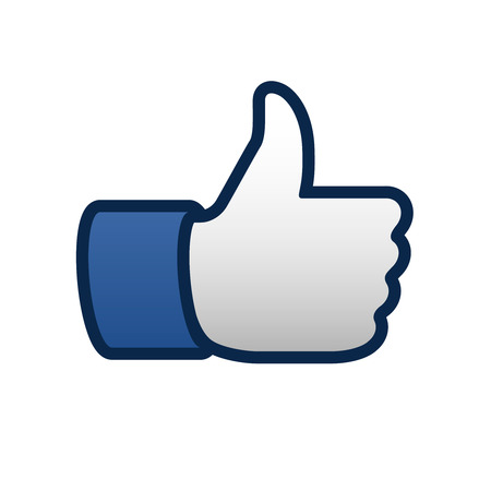 Best like thumbs up symbol icon, vector illustration.