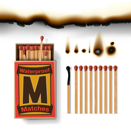 consumable: Matches isolated on white