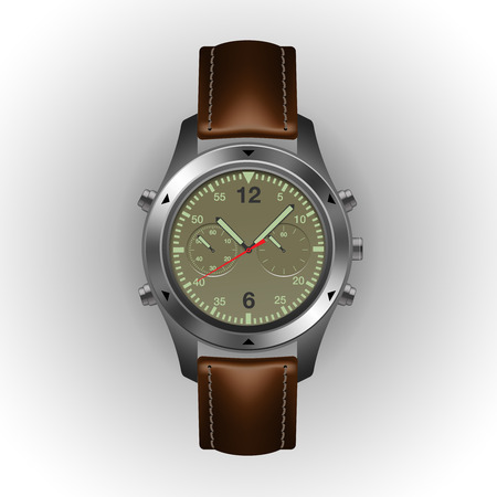 military watch: Military watch isolated on a white background, vector illustration. Illustration