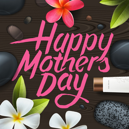 Greeting card for Mother Day, vector illustration. Vector