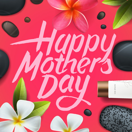 Greeting card for Mother Day, vector illustration.