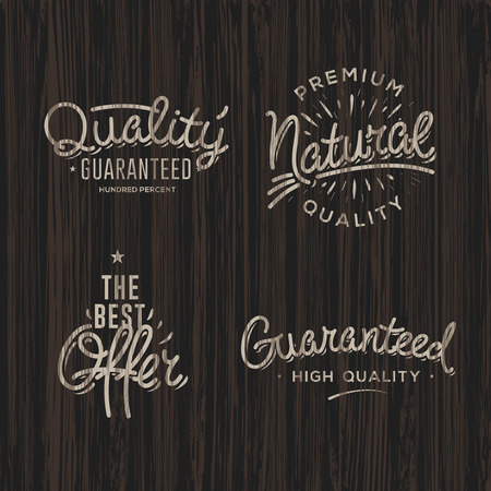 ratify: Premium quality labels, set Illustration