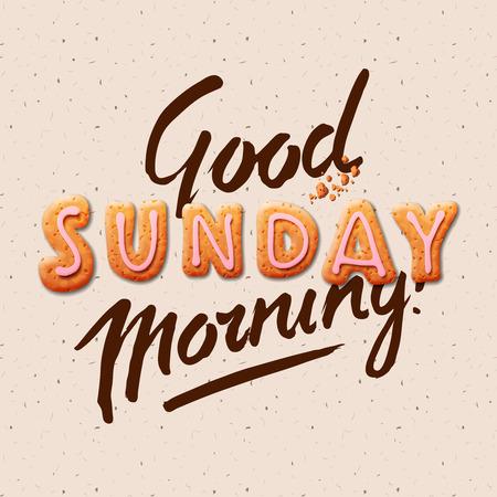 おはようございます日曜日背景イラスト。  イラスト・ベクター素材