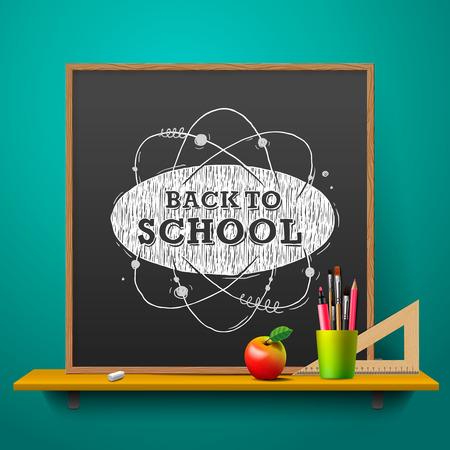 ni�os en la escuela: Volver a la escuela de fondo abstracto Vectores