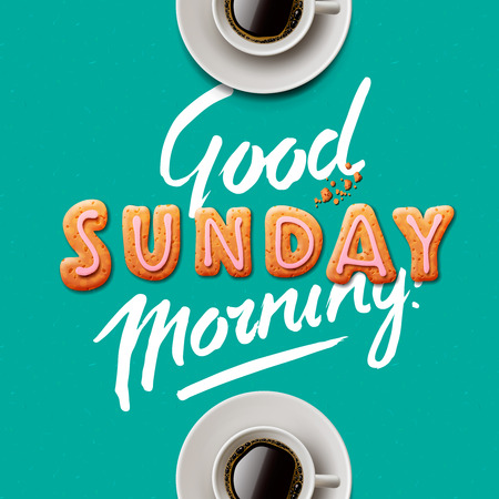 sonne: Guten Morgen. Hintergrund mit Tasse Kaffee