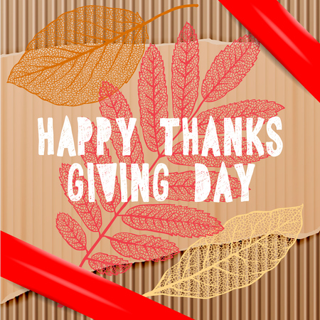 holiday background: Happy Thanksgiving Day, holiday background, vector illustration. Illustration