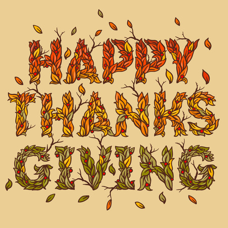 beautiful thanksgiving: Happy Thanksgiving Day, holiday background, vector illustration. Illustration