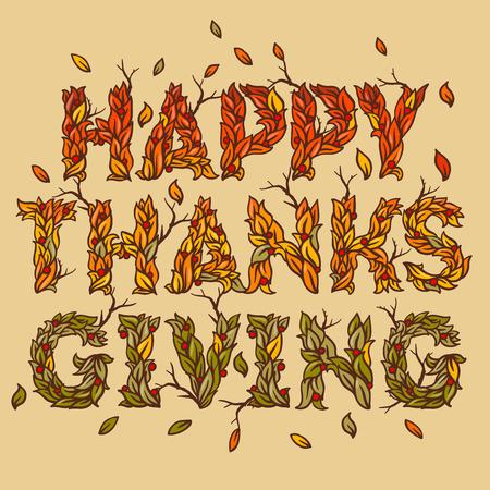 thanksgiving art: Happy Thanksgiving Day, holiday background, vector illustration. Illustration