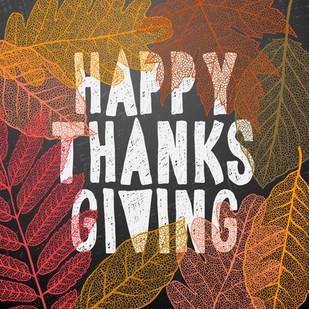Happy Thanksgiving Day, vakantie achtergrond, vector illustratie. Stockfoto - 47658251