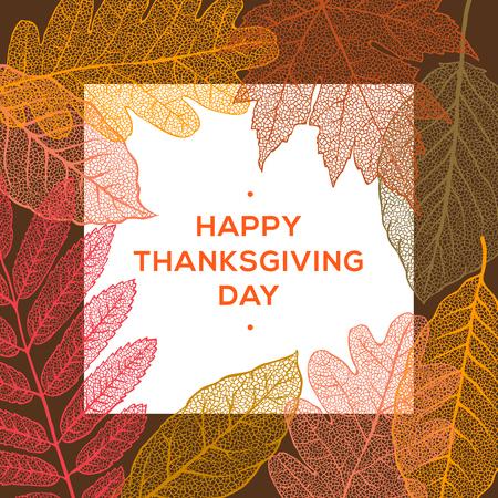 Happy Thanksgiving day, holiday background, vector illustration. Illustration