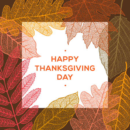 Happy Thanksgiving day, holiday background, vector illustration. Vettoriali