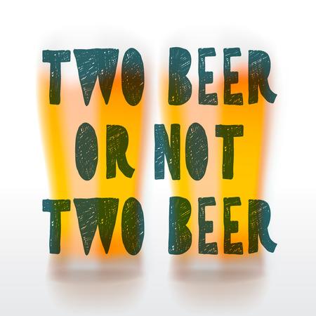 friends having fun: Drink beer, beer  time background, vector illustration.