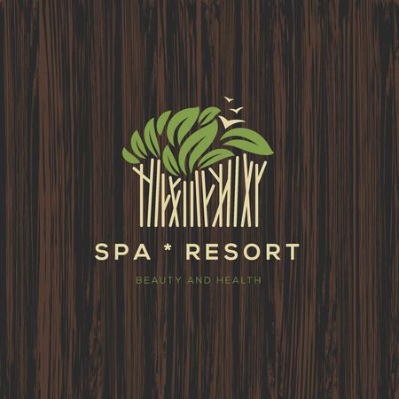 spa resort: Logotype for spa resort or beauty business Illustration