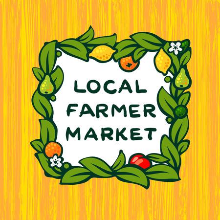 farmer market: Local farmer market, farm icon design, vector illustration Illustration
