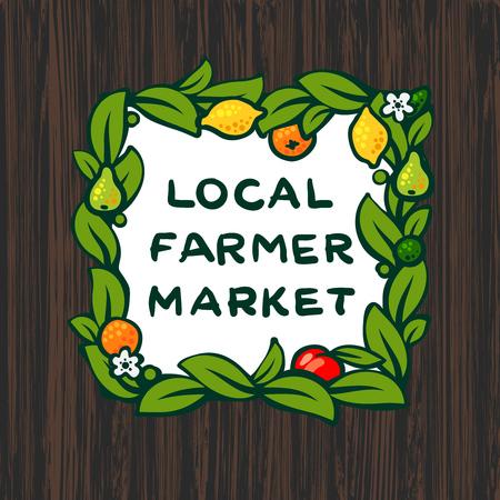 farmers market: Local farmer market, farm icon design, vector illustration Illustration