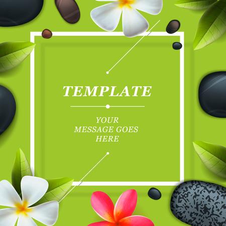 Santé et beauté modèle, concept pour salon de spa, illustration vectorielle.