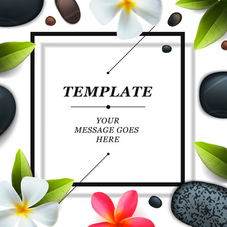 Health and beauty template, concept for spa salon , vector illustration.