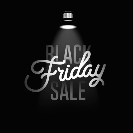 black: Black Friday sale inscription design template.
