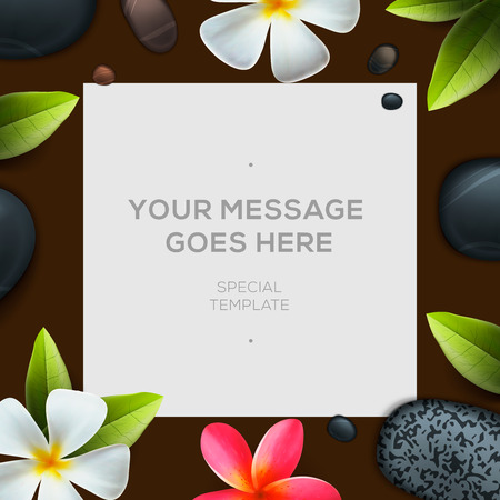 health spa: Health and beauty template, concept for spa salon , vector illustration.