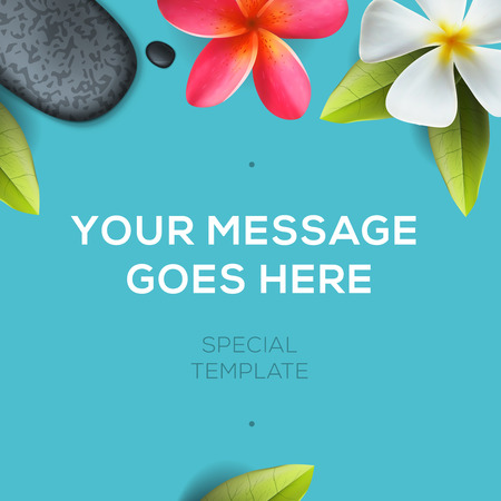 Health and beauty template Illustration