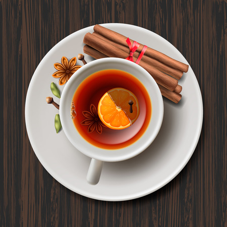 aromatic: Christmas tea with spices aromatic mulled wine Illustration