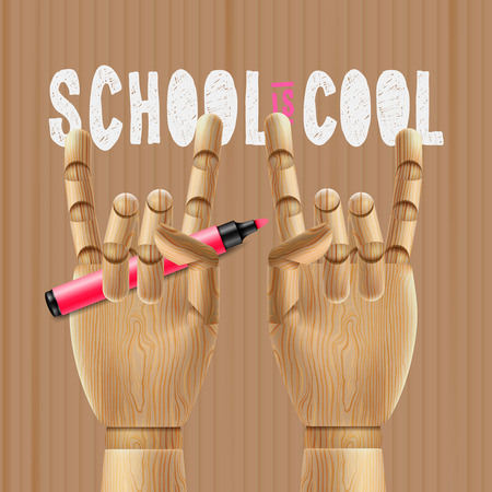 first day of school: School is cool education poster