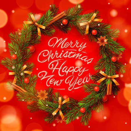 greeting card background: Christmas greeting card and background Illustration