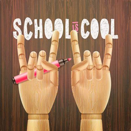 first day: School is cool education poster